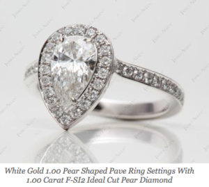 $5,295 Pear Halo Engagement Ring