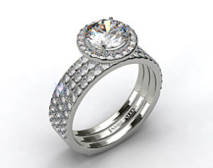 $29,140 James Allen 2 ct Halo Engagement Set