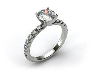 View a James Allen French Cut Pave Setting on Finger | Engagement Ring Voyeur