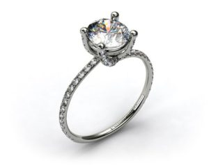 A Pave Prong Setting from James Allen