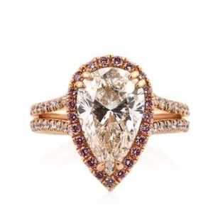 Pear Halo in Rose Gold for $2,464