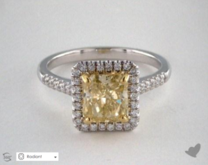 A Yellow Sapphire Engagement Ring for $1,879