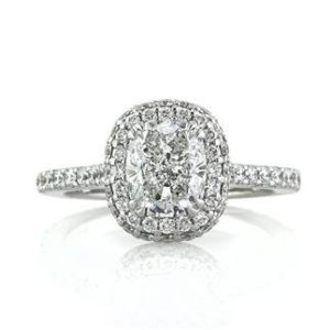 Mark Broumand Cushion Cut Halo for $24,145