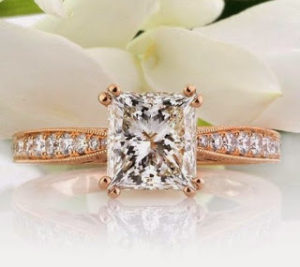 A Unique, Rose Gold Engagement Ring for $13,450 | Engagement Ring Voyeur