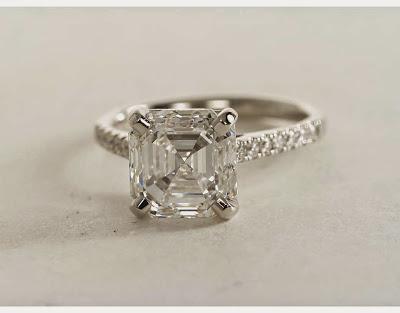 asscher diamond pave setting