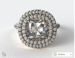 Tiffany Soleste Option by James Allen | Engagement Ring Voyeur