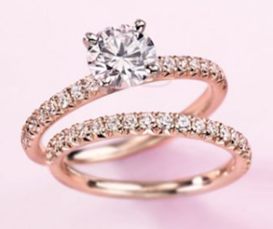 A Rose Gold Engagement Ring for Valentines Day $3409