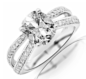 Chandni Jewels Double Pave Engagement Ring for $4,450