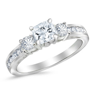 three-stone engagement ring from Houston Diamond District
