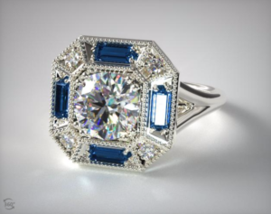Vintage Sapphire Engagement Rings from James Allen | Engagement Ring Voyeur