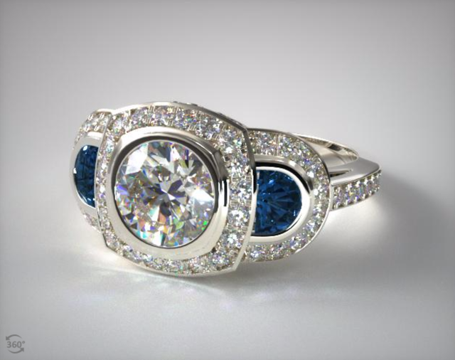 Half Moon Sapphire Setting from James Allen