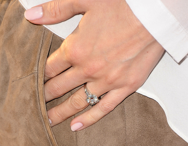 Classic baguette sidestone engagement ring