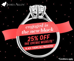 James Allen and Blue Nile Black Friday Deals | Engagement Ring Voyeur