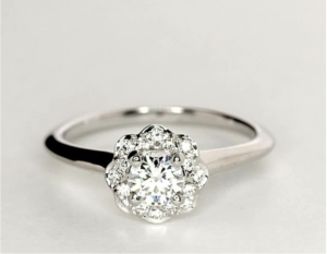 Blue Nile Floral Halo $1648 | Engagement Ring Voyeur