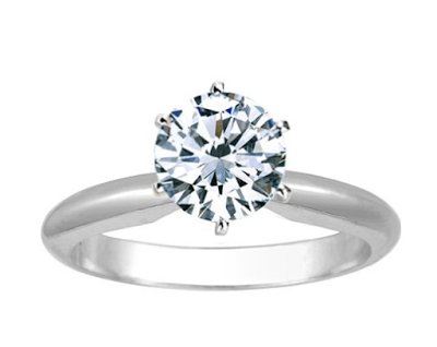 six-prong engagement ring on Amazon