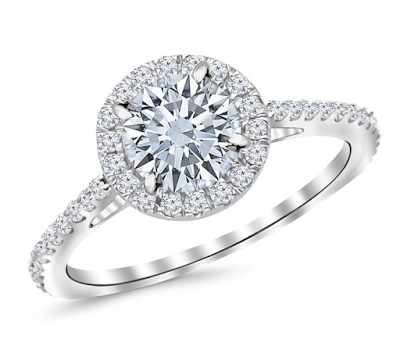 Houston Diamond District Halo Engagement Ring