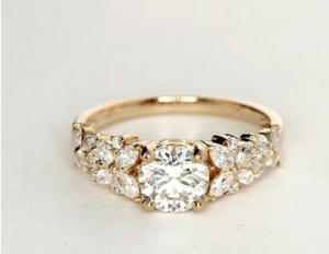 Monique L'Hullier Petal Garland Ring Under $10,000 | Engagement Ring Voyeur