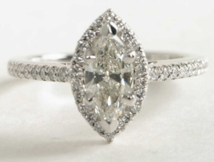 Marquise Halo Under $3000 | Engagement Ring Voyeur