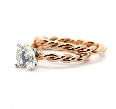 Twisted Cable Engagement Ring