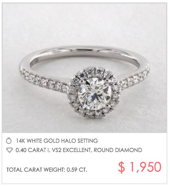 custom halo setting under $2000