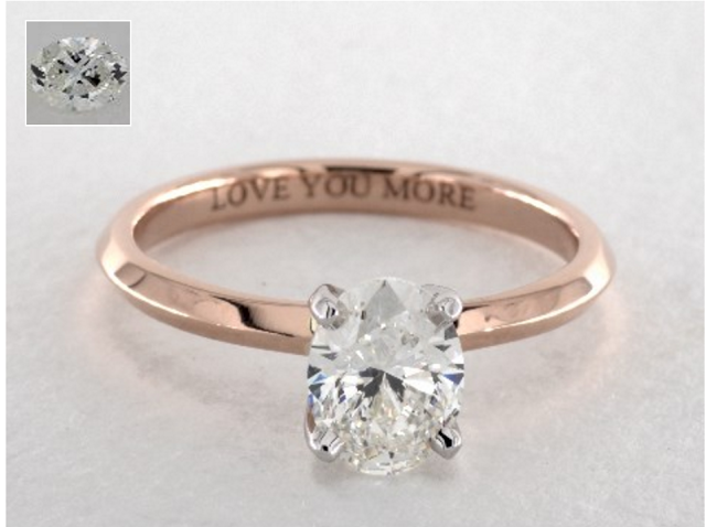 rose gold engagement rings under $5000