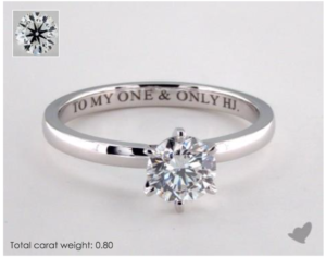 Comfort Fit Six-Prong Solitaire Tiffany Setting | Engagement Ring Voyeur