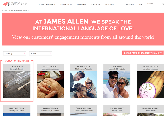 James Allen International Customers