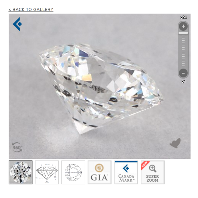 CanadaMark diamonds on JamesAllen.com