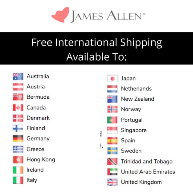 James Allen International Shipping