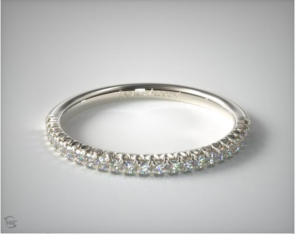 Flush Fit Pave Wedding Band
