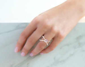 Criss Cross Engagement Ring  by James Allen