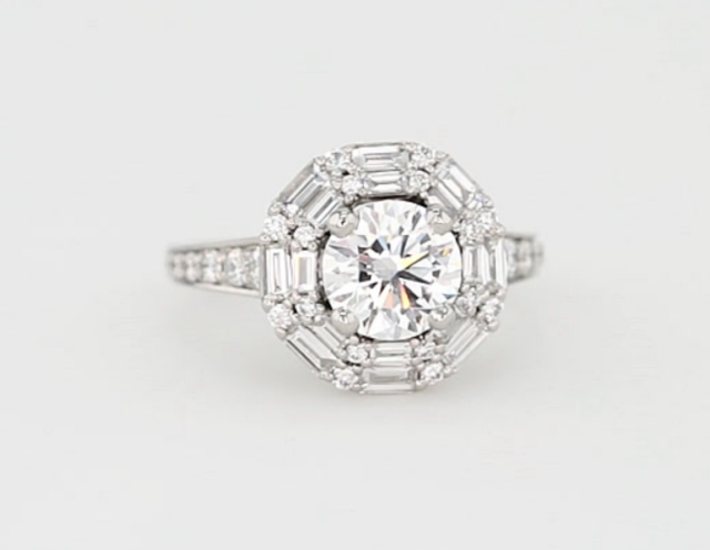 Monique Lhullier Halo Engagement Ring