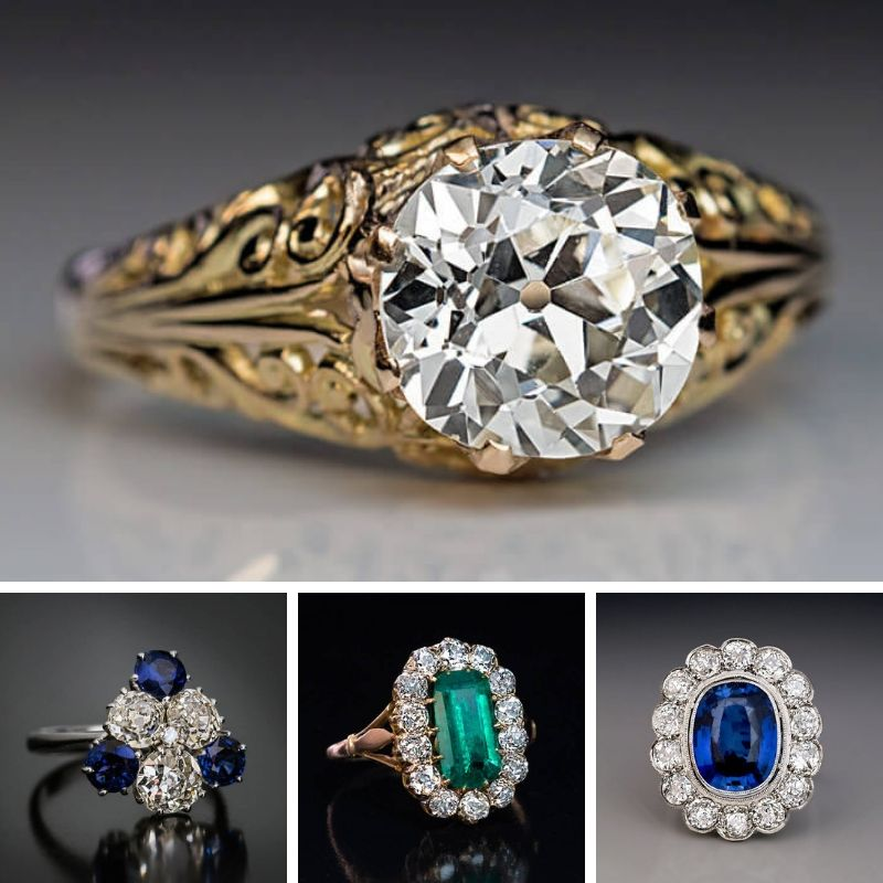 Antique Russian Engagement Ring