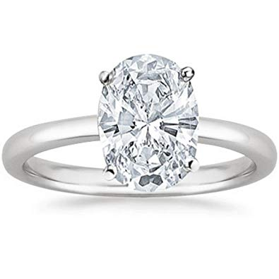 Oval solitaire engagement ring under 2000