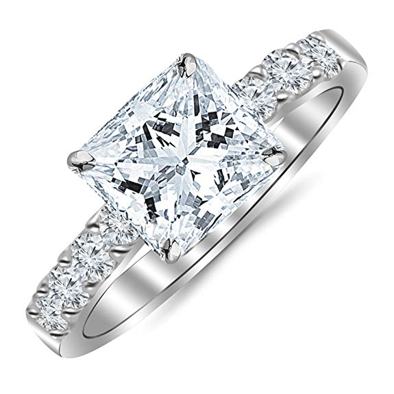 Princess engagement ring under 2000