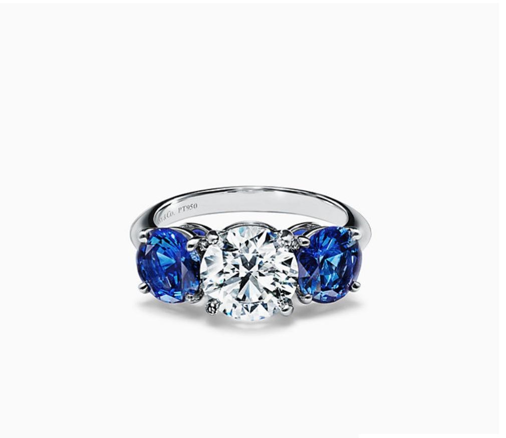 Tiffany 3 Stone Sapphire Replica