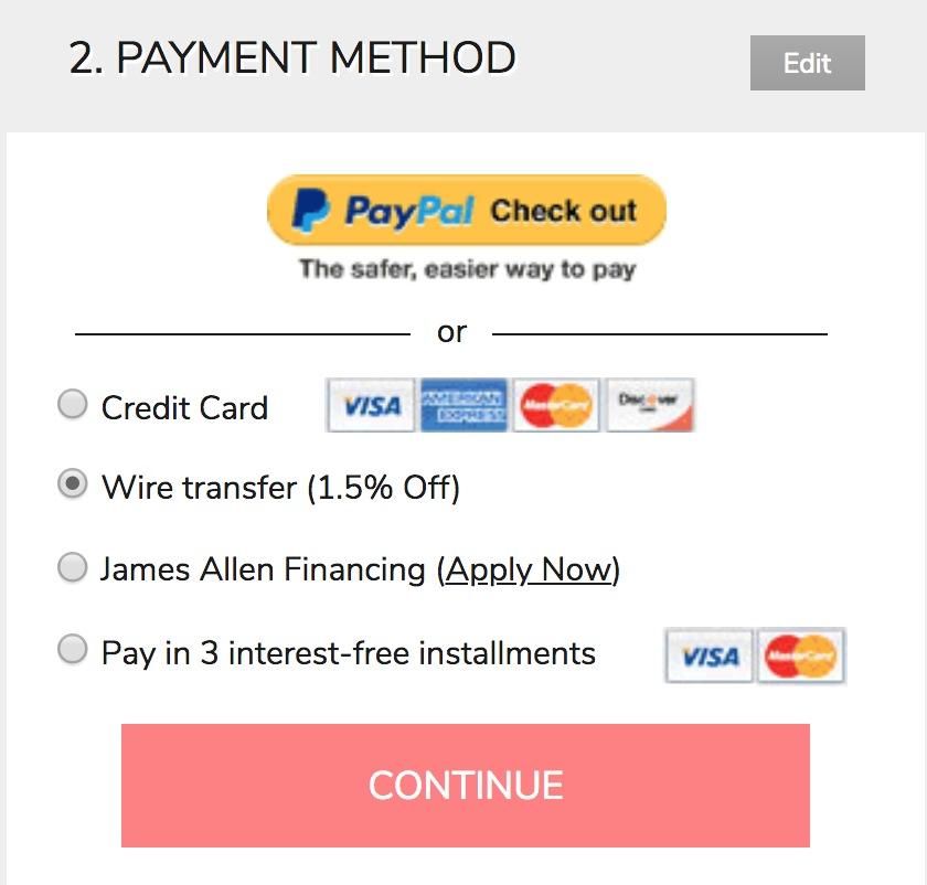 James Allen Financing