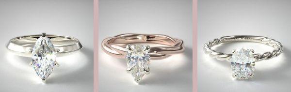 Elongating Engagement Rings