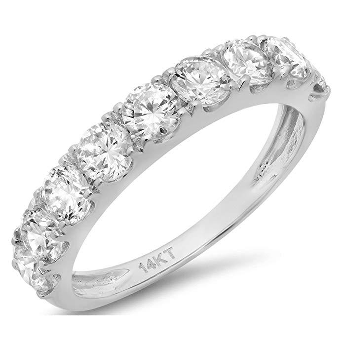 fake diamond wedding rings