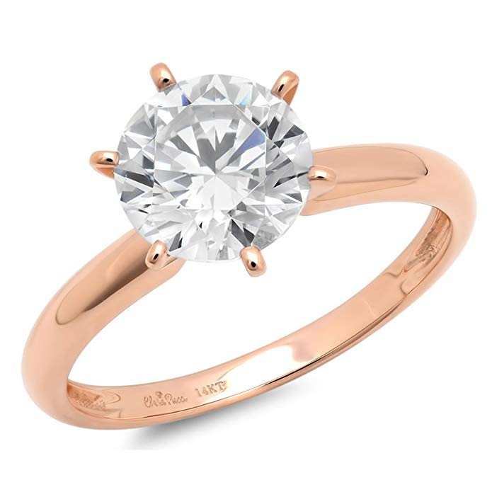 Rose Gold CZ Solitaire